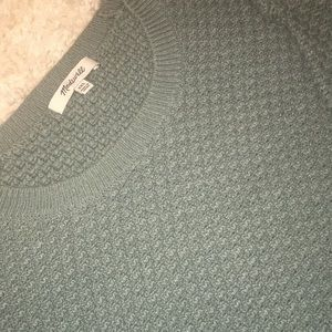 Muted Teal Knitted Pullover Sweater